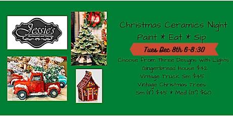 Christmas Ceramics at Jessie's tickets