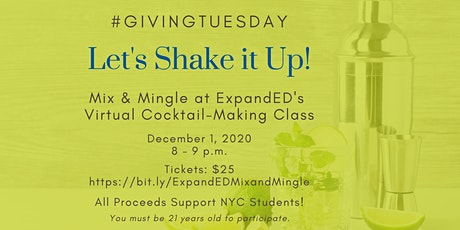 Giving Tuesday Cocktail Making Class + Networking Fundraiser tickets