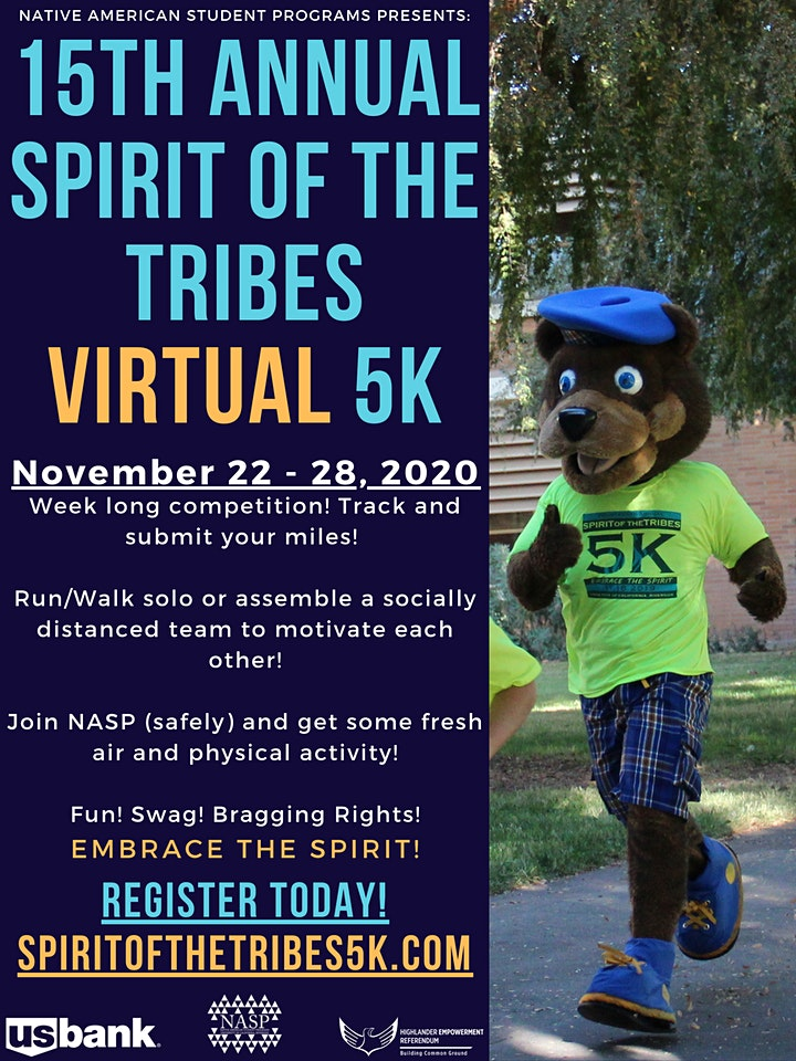 15th Annual Spirit of the Tribes Virtual 5K image