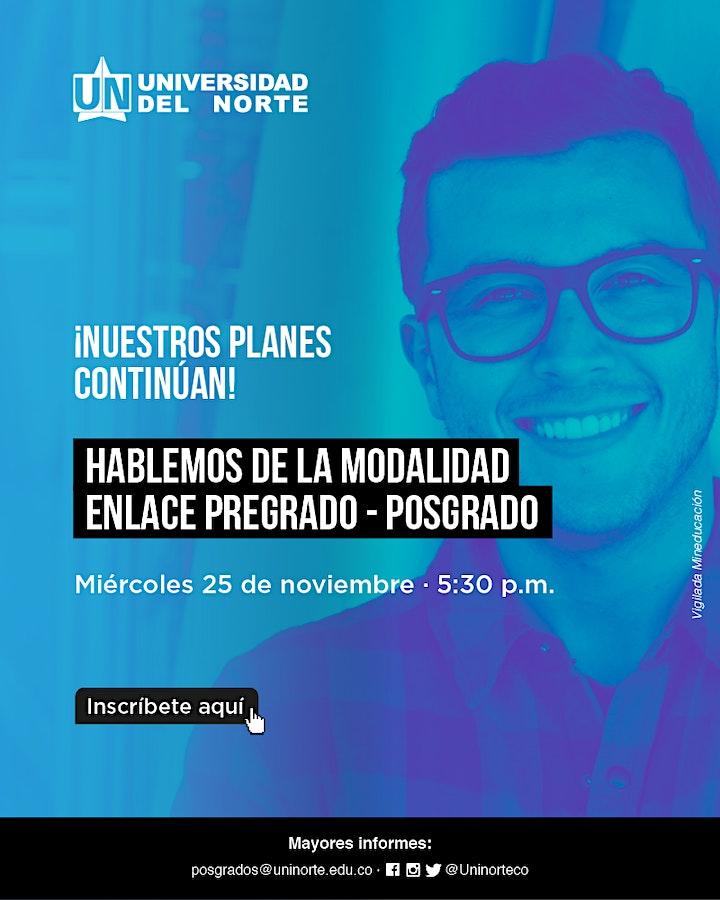 Imagen de Hablemos de la Modalidad Enlace Pregrado - Posgrado.