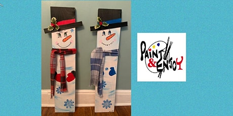 "Paint and Enjoy at The Hub & Corner Cafe  ""3 foot Snowman "" on Wood tickets"