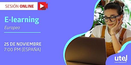 """Sesión online """"E-learning Europeo"""" entradas"""