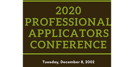 2020 Professional Applicators Conference tickets