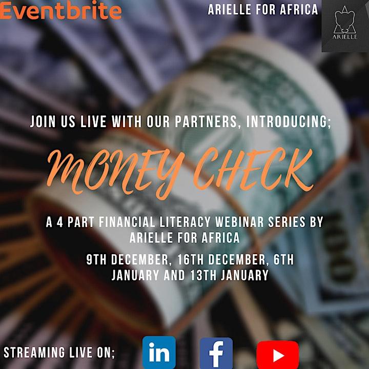 MONEY CHECK - FINANCIAL LITERACY WEBINAR SERIES image