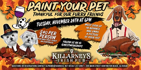 Paint your Pet THANKFUL EDITION tickets