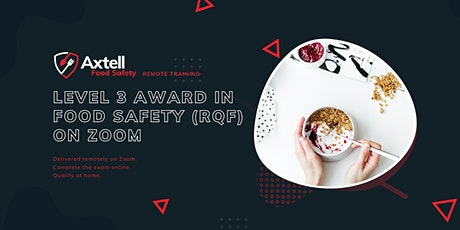 Level 3 Award in Food Safety (RQF) on Zoom