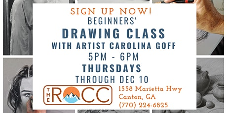 Beginner's Drawing Class with Professional Artist Carolina Goff tickets
