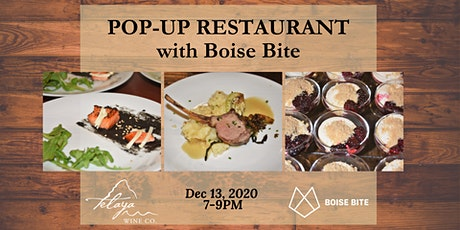 Pop-up Restaurant with Boise Bite tickets