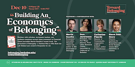 Building an Economics of Belonging - Toward Belonging Digital Dialogue tickets