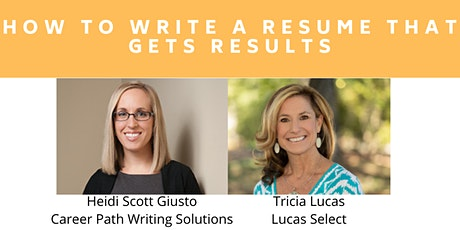 How to Write a Resume that Gets Results tickets