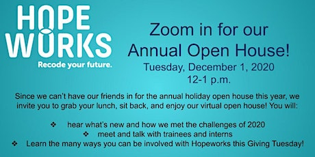 Hopeworks 2020 Annual Open House tickets