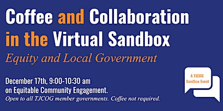Coffee and Collaboration in the Virtual Sandbox tickets