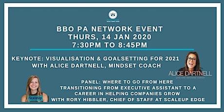 BBO PA Network ONLINE - Alice Dartnell '2021 Goalsetting' - 14/01/21 tickets