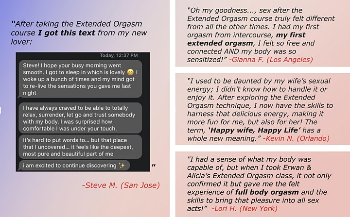 Erwan Davon Teachings: Introduction to Extended Orgasm image