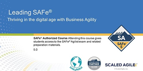 VIRTUAL! Leading SAFe 5.0 Certification Training, Eastern Time tickets