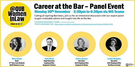 Career at the Bar - Panel Event tickets
