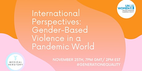 International Perspectives: Gender-Based Violence in a Pandemic World tickets