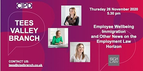 Employee Wellbeing, Immigration and What's on the Employment Law Horizon tickets