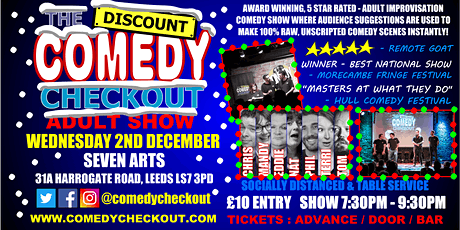Comedy Night at Seven Arts Leeds - Wednesday 2nd Dec tickets