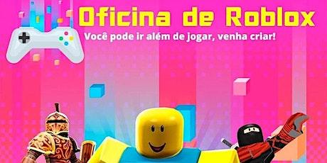Oficina de Roblox - Presencial ou online e ao vivo - de 7 a 13 anos