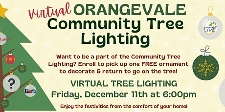 Virtual Orangevale Community Tree Lighting tickets