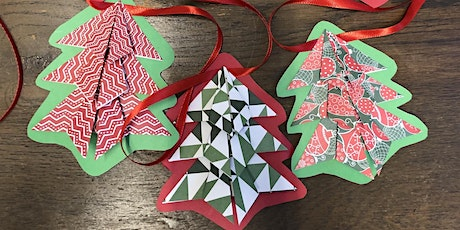 Origami Christmas Tree Bunting tickets