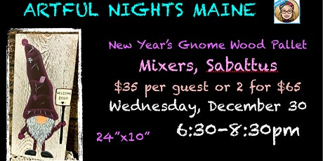 New Years Gnome Wood Pallet at Mixers tickets