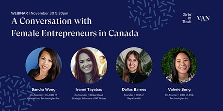 A Conversation with Female Entrepreneurs in Canada tickets
