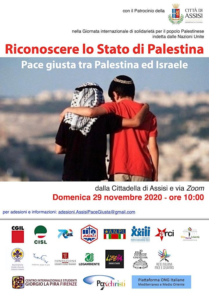 Immagine Riconoscere lo Stato di Palestina. Pace giusta tra Palestina ed Israele.