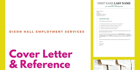 Cover Letter & Reference Workshop    Dixon Hall   December 17th tickets