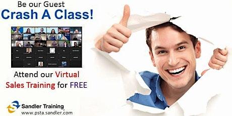 Sales Training: Crash a Virtual Class -  12-2-2020 tickets
