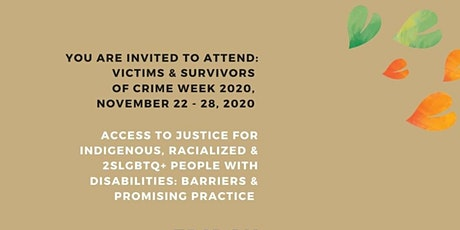 Victims and Survivors of Crime Week 2020: Workshop Presentation tickets
