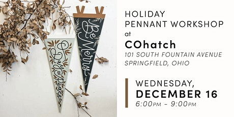 Holiday Pennant Banner tickets