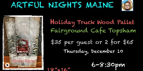 Red Truck Holiday Wood Pallet at Fairground Cafe, Topsham tickets