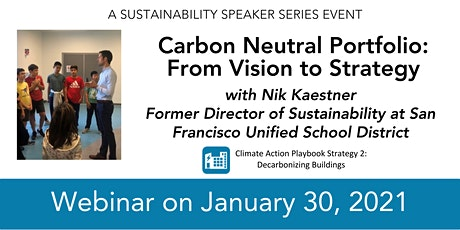 Carbon Neutral Portfolio: From Vision to Strategy tickets