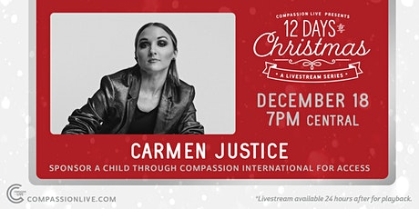 12 Days of Christmas - A Livestream Series | Carmen Justice tickets