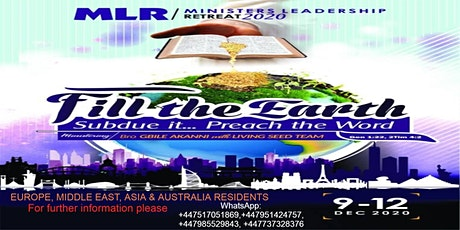 MLR/ MINISTERS LEADERSHIP RETREAT 2020 tickets