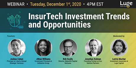 InsurTech Investment Trends and Opportunities tickets