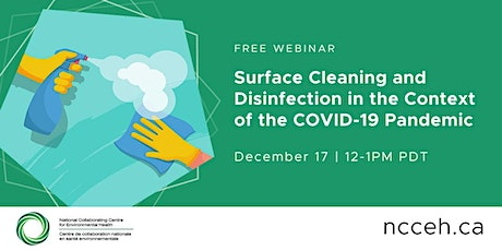 Surface Cleaning and Disinfection in the Context of the COVID-19 Pandemic tickets