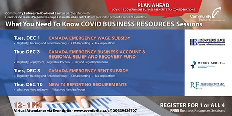 What You Need To Know COVID BUSINESS RESOURCES Sessions tickets