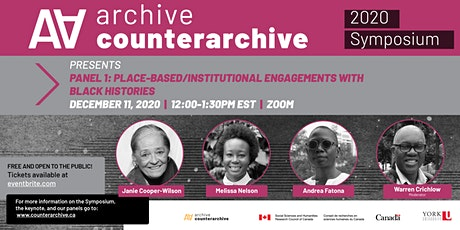 PANEL 1: Place-based/Institutional engagements with Black histories tickets