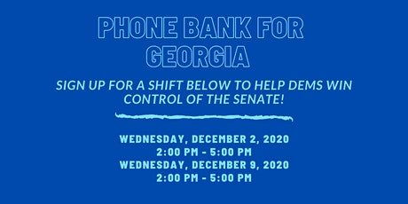 L21 Phone Bank for Georgia tickets