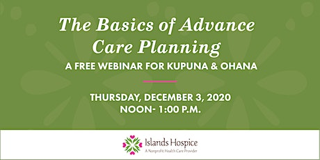 Basics of Advance Care Planning tickets