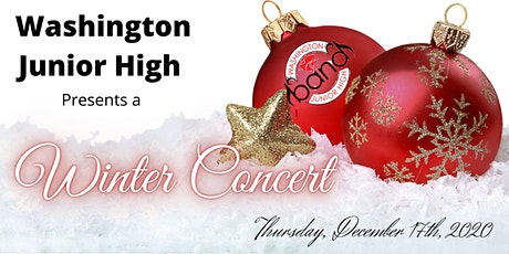 Washington Junior High School 8th Grade and Jazz Band Winter concert entradas