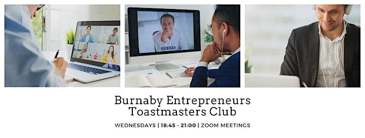 2021 Burnaby Entrepreneurs Toastmasters Weekly Digital Meeting image