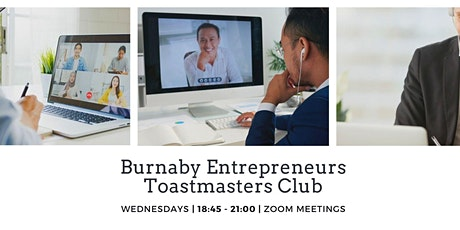 2020 Burnaby Entrepreneurs Toastmasters Weekly Digital Meeting tickets
