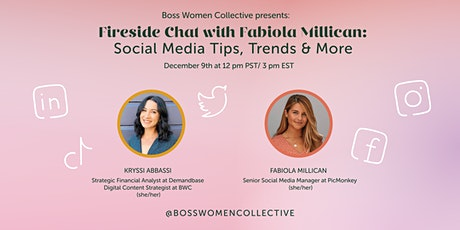 Fireside Chat with Fabiola Millican: Social Media Tips, Trends & More tickets
