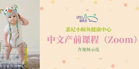 【Zoom】中文产前课程(含视频示范) tickets