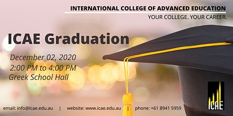 ICAE Graduation - December 2020 (Graduands) tickets