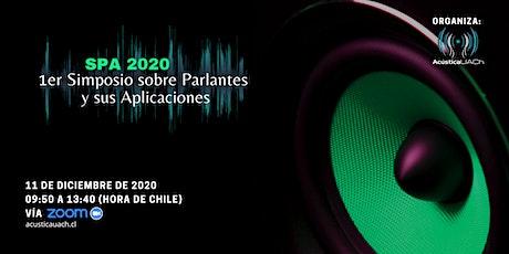 Simposio sobre Parlantes y sus Aplicaciones - SPA 2020 entradas